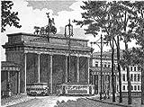 Einfarbige original Radierung Berlin, Brandenburger Tor von König als loses Blatt, Graphik, kein Kunstdruck, kein Leinwandbild