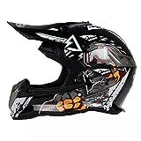 XINFUKL Allmächtiger Helm Sicherheit Sonnen-Motocross Helm Modularer Helm Anti-Fog Warm Atmungsaktiv Unisex Abnehmbar,4-XL