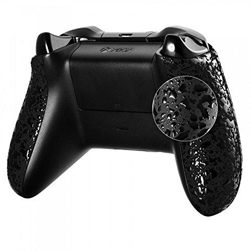 eXtremeRate Xbox One Grip Griffe Case Hülle Gehäuse Cover Schale Bumper Seitenteile Ersatzteilefür Microsoft Xbox One Controllers Beiden Seiten(Schwarz)