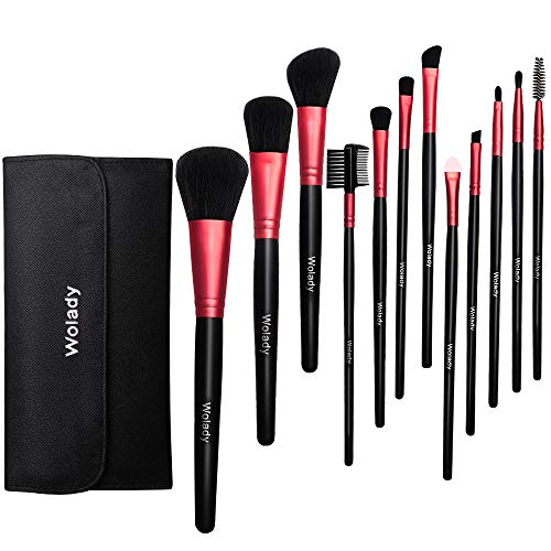 Make Up Pinsel Set Wolady 12 Stück Pinselset Augen Pinselset Schminkpinsel Kosmetik Pinsel Set...
