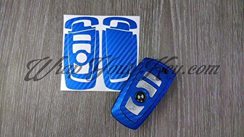 Blau Carbon Faser BMW Schlüssel Aufkleber Aufkleber Overlay 1F21F202F22F23F45F463Series F30F31F34F35F80M3Series 4F32F33F36F82F83Serie 5F10F11F 18F07Serie 6F12F13F06Serie 7F01F02F03F04