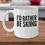 Ski- Kaffeetasse – Wasserski-Geschenk – Geschenk – Wakeboard-Geschenk – Schneeski – I'd Rather Be Skifahren