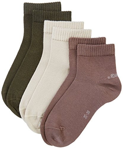 s.Oliver Socks Herren Quarter Unisex 3pack Socken,, 3er Pack|#3per pack Braun (taupe 63), 39/42 (Herstellergröße: 39/42)