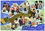 """Petitcollin 10.5 x 15 cm """"Les Provinces De France"""" Postcard"""