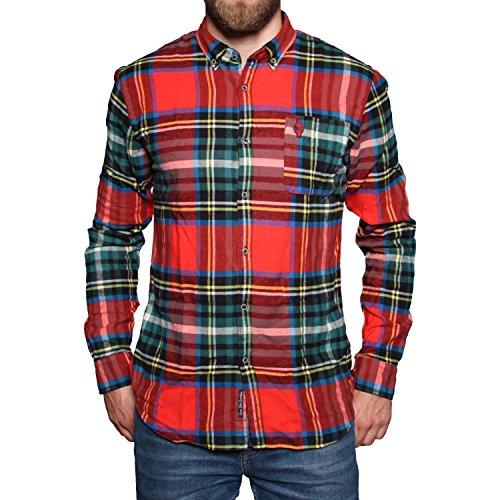 Chemise à manches longues pour homme Mehrfarbig