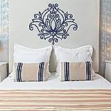ganlanshu Mignon Yoga Fleur Lotus Sticker Mural Mandala Motif Bohême Maroc Chambre Fenêtre Décoration Vinyle 67 cm x 57 cm