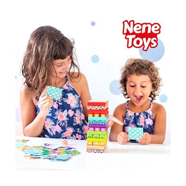Nene Toys - Torre Magica Colorata in Legno con Animali – Gioco Educativo da Tavolo per Bambini - Gioco Didattico 4 in 1… 2 spesavip