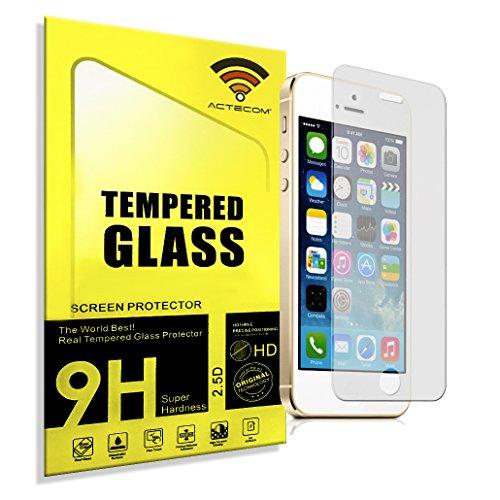 ACTECOM Protector de pantalla Iphone 5/5S 5C SE de cristal templado