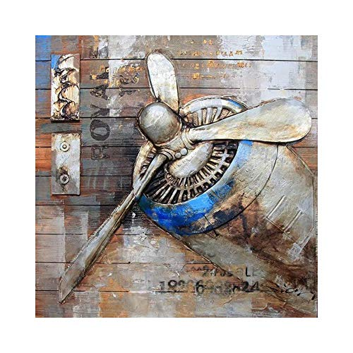 Sxuefang Wall Decoration Propeller Ornament Wood Painting Wall Bar Retro Wall Decor Industrial Wind Wall