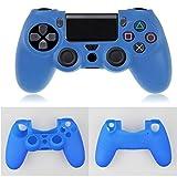 Sansee Zubehör Hochwertige Weiche Silikon Kasten Abdeckung Hüllen für Playstation PS4 Controller (Blau)