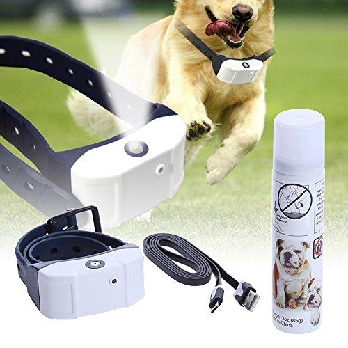 prettygood7 Anti-Bell-Hundehalsband, wiederaufladbar, Citronella-Design, gegen Bellen