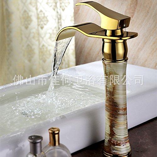 Maifeini Messing Armaturen _ Kalte Und Warme Jade Wasserfall Wasserbecken Auf Der Warmen Und Kalten Armaturen,Chrom
