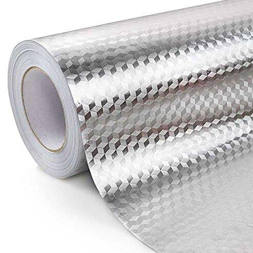 Dicke Aluminiumfolie Papier Feuchtigkeitsspendende Matte Tinfoil Aufkleber Küche Fach Pad