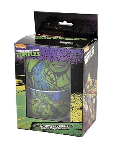 Coriex N92484 AS - Ninja Turtles Frühstücksset Tasse Frühstücksbrettchen, Verschiedene Spielwaren