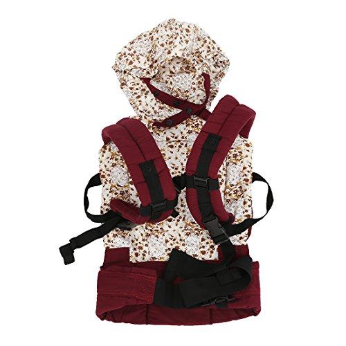 SODIAL (R) Imbracatura Cotone porta bambino infantile dello zaino di comodita' Fibbia dell'involucro Pad regolabile Rosso