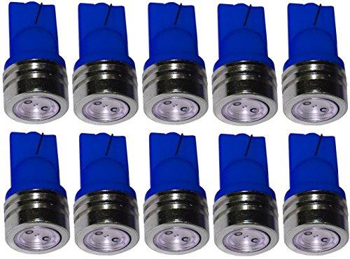 Aerzetix: 10x ampoule T10 W5W 12V à LED bleu veilleuses éclairage intérieur seuils de porte plafonnier pieds lecteur de carte coffre compartiment moteur plaque d'immatriculation