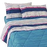 Completo lenzuola Matrimoniale Penny - Bassetti - Blu/Azzurro - Cod. 85749