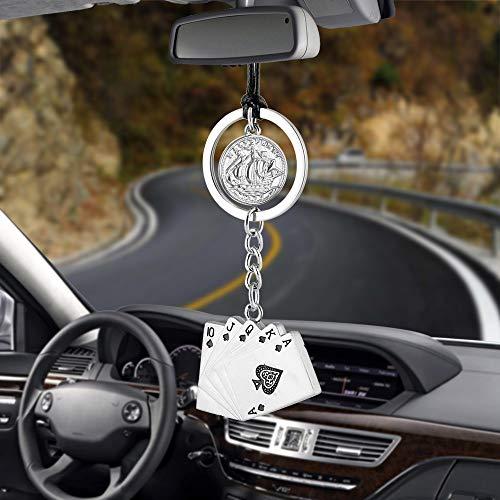 Auto Pendant Cool Poker Mit Coin Casino Lucky Ornaments Charms Rückansicht Spiegel Dekoration Händewagen Zubehör (Cooles Auto-spiegel-zubehör)