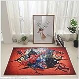 Salle De Séjour pour Enfants Tapis Cartoon Spider-Man 3D Motif Tapis Salon Chambre...