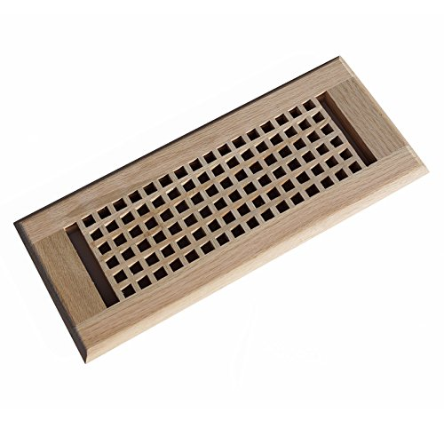 Welland Ei Box rot Eiche Holz Wand Vent Boden Register unlackiert 4 inch x 12 inch S -