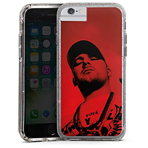 Apple iPhone 6s Bumper Hülle Bumper Case Glitzer Hülle Kool Savas Fan Article Merchandise Fanartikel Merchandise Bumper Case Glitzer rose gold
