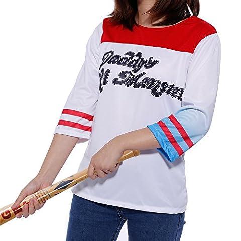 Harley Costume Quinn Shirt - Surepromise Chemise T-Shirt de Deguisement Harley Quinn