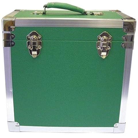 Steepletone LP/Album Vinyl DJ Record Storage Box/Flight Case - Green