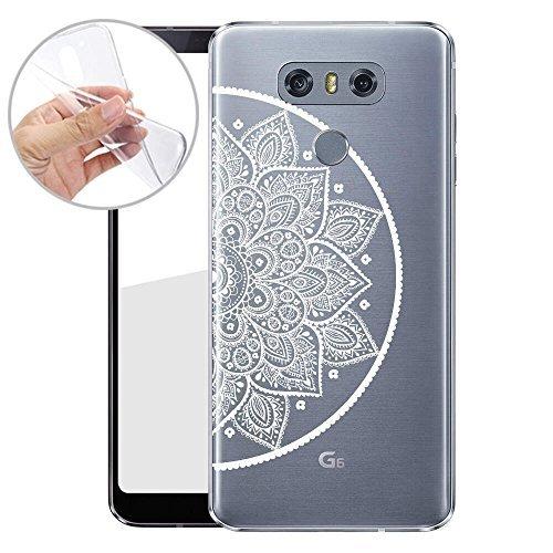 Finoo TPU Handyhülle für dein LG G6 Made In Germany Hülle mit Motiv und Optimalen Schutz Silikon Tasche Case Cover Schutzhülle für Dein LG G6 - Kringel Henna 4