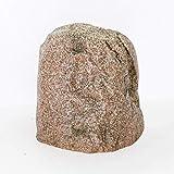 Gartendek Findling Olymp, Abdeckstein, Abdeckung, Dekostein, 60x53x50 cm, Natursteinoptik, rot