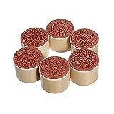 Cosanter 6 Stempel ausHolz und Gummi, rund, antikes Spitzen-Muster, handgefertigt für Scrapbooking/Hochzeit