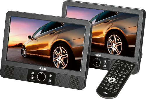 AEG DVD 4552 LCD Tragbarer DVD-Player (22,86 cm (9 Zoll) Display, DVD+RW, SD-Kartenslot) schwarz