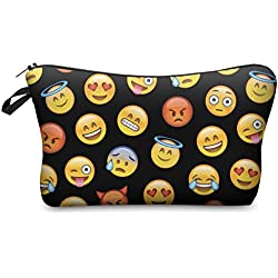 Bolsa de aseo Estuche Make Up Bag Emoji Black [009]