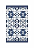SNAAN Luxury Ikkat Printed Hand Towels (Indigo)