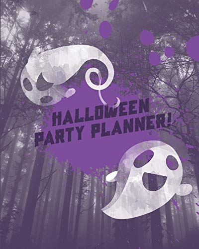 ner!: Themed Event Planner + October Daily Planner Purple Ghosts ()