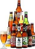Saveur Bière - Coffret Autour Du Monde - Pack de 11 bières (33 à 37,5 cl) et 1 verre de 25 cl - Idée cadeau