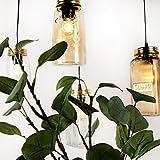 Pendelleuchte Jar Deckenleuchte Deckenlampe Vintage Ball Lampe Einmachglas Weckglas Mason Hängeleuchte (Amber (Country))