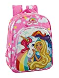 Barbie Unicornio - Mochila infantil 34 cm adaptable a carro (Safta 611810185)