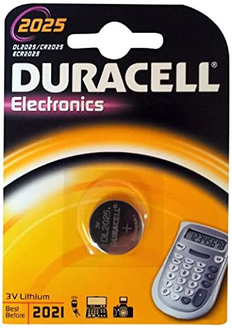 Duracell 10DUCR2025 Lithium Knopfzelle (3 Volt, 10-er Pack)