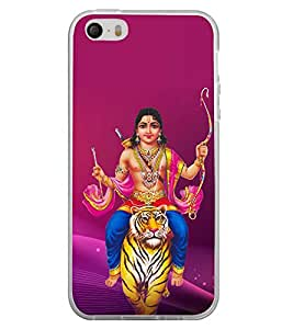 FUSON Lord Ayyappa Swami Ji Designer Back Case Cover for Apple iPhone 4