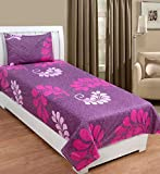 Zesture Bring Home Premium 100 % cotton Paisley Single Bedsheet with 1 pillow cover