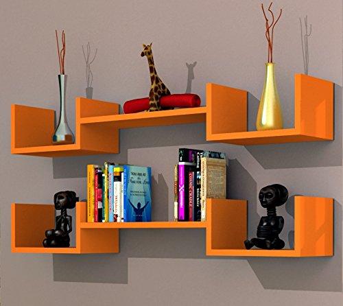 LIFE Mensola da muro - Arancione - Mensola Parete - Mensola Libreria ...