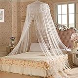 17Years - Betthimmel, Bettdekoration im süßen Sommerstil, rund, Moskitonetz, weiß, Einheitsgröße