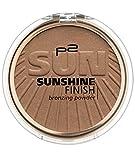 p2 cosmetics Sunshine Finish Bronzing Powder 040, 3er Pack (3 x 8 g)