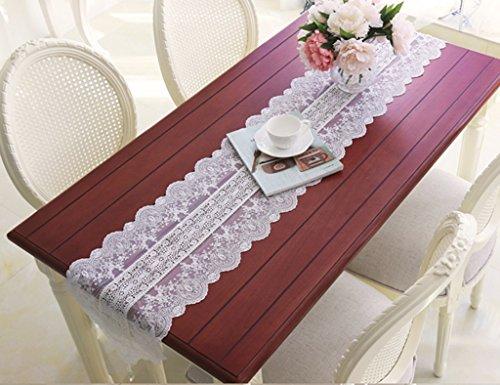 QiangZi Chemin De Table Dentelle Motif Floral Salon Cuisine Bureau Table À Thé, Armoire À Chaussures, Et TV Stand \\