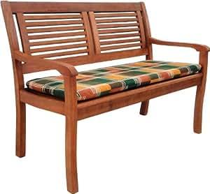 gartenbank paolo aus eukalyptus holz 2 sitzer mit bankauflage. Black Bedroom Furniture Sets. Home Design Ideas