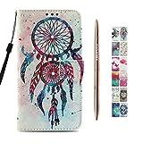 Kawaii-Shop Coque Samsung Galaxy A6 Plus 2018 PU Etui Housse Dreamcatcher Multicolore...