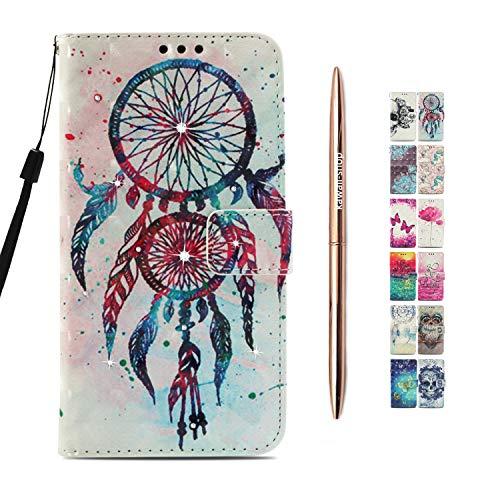 Kawaii-Shop kompatibel für Sony Xperia XA2 Ultra Ledertasche Flip Case Multi Color Traumfänger...