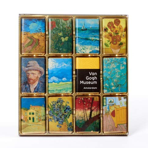 Official Van Gogh Museum Amsterdam - 24 Pieces Chocolate Highlights - Belgische Pralinen - Meisterwerke von Vincent van Gogh
