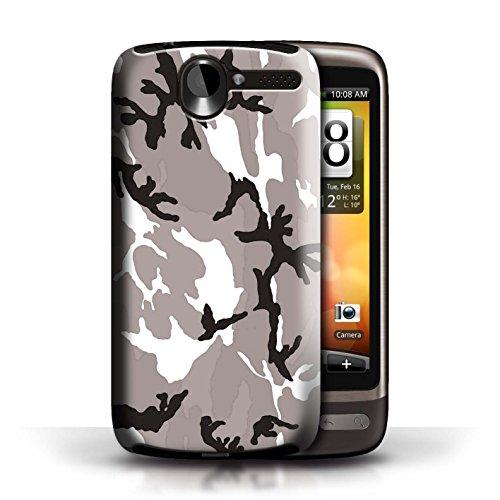 le für HTC Desire G7 / Weiß 4 Muster / Armee/Tarnung Kollektion ()