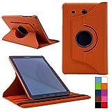 COOVY® Cover für Samsung TAB E 9.6 SM-T560 SM-T561 SM-T565 Rotation 360° Smart Hülle Tasche Etui Case Schutz Ständer | Farbe orange